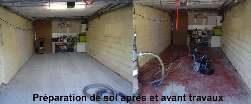 Reprise rectification planéité préparation support garage