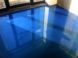 chambre époxy bleue