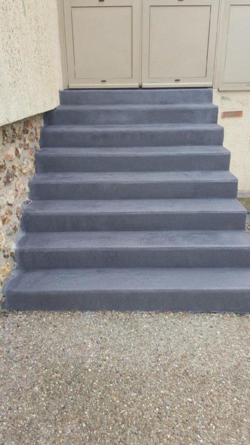 escalier béton ciré extérieur