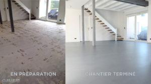 rénovation en béton ciré