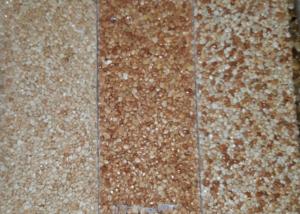 tapis de pierre échantillons tons rosés